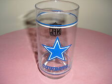 NFL  Dallas Cowboys COLLECTILBE Tall Tumbler / Glass - STAR