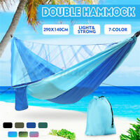 290*140cm Camping Hammock 2 Person Mosquito Net Hammock Withstand 300KG W/Pocket