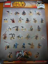 Lego Star Wars Minifigures & Rebels Printed Both Side Promotion Poster 2015 NEW