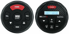 MB Quart GMR-3 Marine Receiver w/Bluetooth AM/FM/iPhone Control + Wired Remote