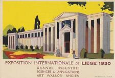 C1304) BELGIO, EXPOSITION INTERNATIONALE DE LIEGE 1930, GRANDE INDUSTRIE.