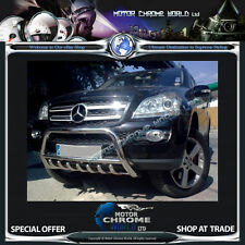 MERCEDES ML W164 BULL BAR CHROME AXLE NUDGE A-BAR 60mm 2008-2011, 7x AXLE TEETH