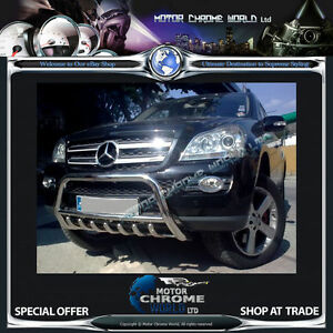 FITS MERCEDES ML W164 BULL BAR CHROME AXLE NUDGE 60mm STAINLESS STEEL 2006-2011