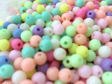 400x 4mm Pastel Baby Colour Round Beads Kids DIY Child Jewelry Making Craft Art