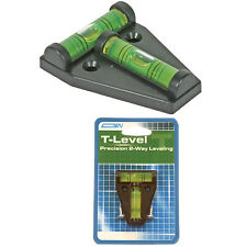 Camco 25543 T Level RV Car Accessories Trailer Tools Campers Outdoor Screw-Mount
