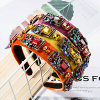 Baroque Women's Embellished Headband Jewelled Hairband Luxury Crown Tiara Party