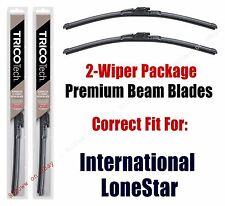 Wipers 2-Pk Premium Beam Wiper Blades fits 2009+ International LoneStar 19220x2