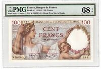 France 100 Francs Banknote 1942 Pick 94 PMG Superb Gem UNC 68 EPQ