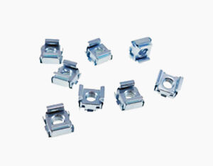 4 10-24 Cage Nut Self-Retaining Cage Nuts 10-24 Zinc Plated Steel Square Cage Nuts