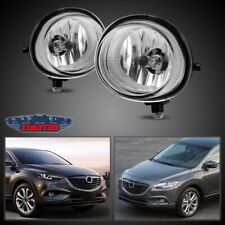 Fit Mazda CX-9 13-15 Clear Lens Pair Bumper Fog Light Lamp OE Replacement DOT