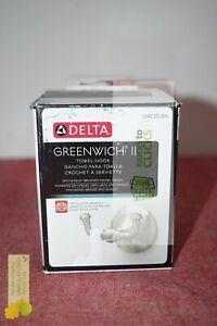 Delta- Greenwich II Towel Hook in SpotShield Brushed Nickel (Missing Hardware)