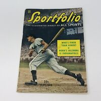 Sportfolio Illustrated Digest Of All Sports Magazine 1948 Ralph Kiner Indy 500