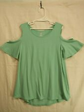 OLD NAVY Girl's Green Cut-Out Shoulders Crew Neck Short Sleeve T-Shirt size M(8)