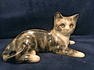 Jenny Winstanley Hand Painted Tabby Cat_Signed_Model 26