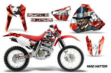 Honda Graphic Kit AMR Racing Bike Decal XR 400 Decal MX Parts 96-04 MAD HATTER W