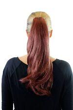 Extension Queue de Cheval Postiche Rouge Tresse Épingle à Cheveux-Papillon Lisse
