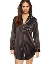 Ann Summers Black Satin Nightshirt Size 8-10