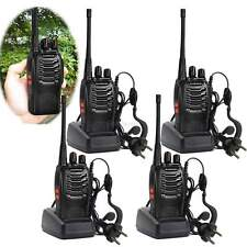 4er Baofeng BF-888S+Headset UHF CTCSS/DCS/VOX Hand-Funkgerät Walkie-Talkie DHL