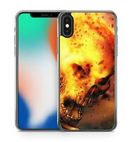 Screaming Spectacular Angry Mad Fiery Outer Space Skull Face Soft Gel Phone Case