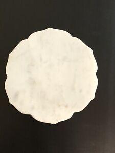 White Marble Trivet - Mandala Shape