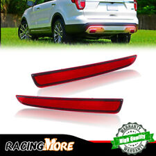 2X For 2016 2017 Ford Explorer LED Bumper Reflectors Rear Taillight Brake Light