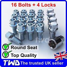 20 x ALLOY WHEEL BOLTS + LOCKS FOR AUDI (M14x1.5) RADIUS SEAT STUD NUTS b[R4b]