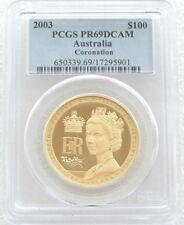 2003 Australia Coronation 50th Anniversary $100 Gold Proof 1oz Coin PCGS PR69 DC