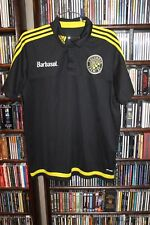 Columbus Crew MLS Soccer black  Polo Shirt Barbasol Climalite Mens sz L (B79)