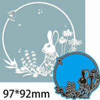 Easter Rabbit Bunny Metal Cutting Dies Scrapbooking Embossing Paper Card Crafts
