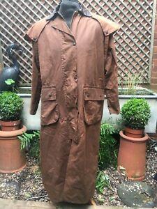 HI-DIVER Stockman Riding Country wax cotton & leather caped coat M PLUS