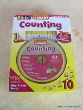 My Take-Along Library Counting Preschool Learning Numbers Books Cd Travel Set