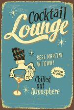 Retro Cocktail Lounge Bar Pub Home Decor Garage Aluminum Vintage Sign