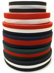 (ab 1,49€/Meter) Ripsband Dekoband Zierband Polyester mehrfarbig Streifen 30mm M