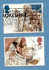 GB/UK stamps 1984 Christmas SG1267/68. Holy Family / Arrival in Bethlehem