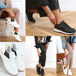 NEW WOMENS TRAINERS LACE UP SNEAKERS CASUAL COMFY LADIES CHUNKY  SHOES ALL SIZES