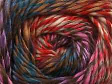100 gram City Lights #40104 Pink Red Blue Brown Tan Cream Premium Acrylic Yarn