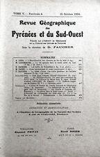 Rev.GEOGRAPHIQUE PYRENEES & SUD-OUEST1934-TomeV F4:CHEM.FER MIDI/ROUSSILLON/AURE