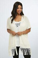 NWT Torrid Plus Size 2X Knit Open Front Kimono