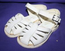 Vintage Wee Walker Baby Shoes White Genuine Leather Sandals size 3-1/2