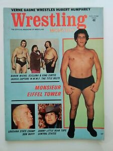 Wrestling Monthly Vol.2 No.8 August 1972 First appearance by Andre the Giant