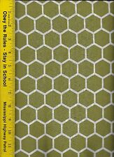 QUILT FABRIC: 100% COTTON, MOSS GREEN HONEYCOMB, By The Yard
