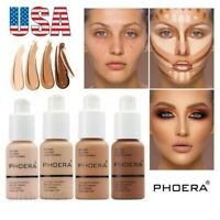 Phoera Foundation Makeup Flawless Liquid Base Brighten Long Lasting Concealer US