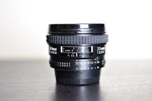 Nikon AF 20mm 2.8D Prime FX Wide Angle Lens - MINT!