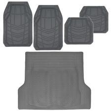Rubber Floor Mats for Car All Season Weather Rubber Cargo Trunk Liner Tan Gray