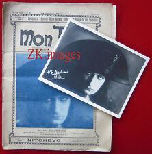 NAPOLEON Bonaparte DIEUDONNE Photo + revue Abel GANCE Choumoff 1926/27