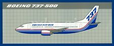 @ 1989 THE BOEING COMPANY 737-500 RED & BLUE AIRCRAFT LIVERY STICKER