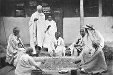 MADAGASCAR. Natives Gambling; Malagasy Sakalava 1900 old antique print picture