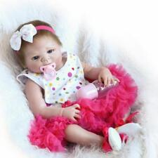 Pinky Bathable 18 Inch Reborn Baby Doll Girl Silicone Full Body Newborn Toddler
