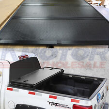 Lock Hard Solid Tri-Fold Tonneau Cover 5.5 FT Truck Bed For Ford F-150 2004-2018
