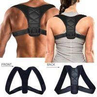 Hombres Mujer Ajustable Corrector de Postura Clavícula Hombro Soporte Espalda